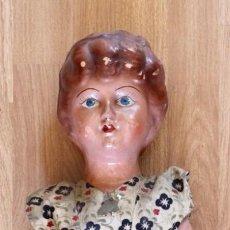 Muñeca española clasica: ANTIGUA MUÑECA PEPONA. CARTON PIEDRA. 48 CMS. FINALES XIX, PRINCIPIOS XX. Lote 205009625