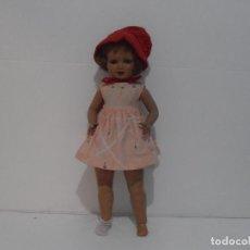 Muñeca española clasica: ANTIGUA MUÑECA ESPAÑOLA, DINA O ALFONSO, AÑOS 50. Lote 205177198