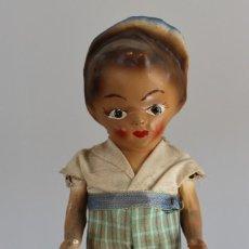 Muñeca española clasica: ANTIGUO MUÑECO PAPEL MACHE- BRAZOS ARTICULADOS- 21 CM. Lote 205286096