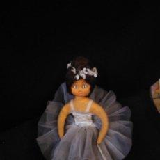 Muñeca española clasica: MUÑECA EN TELA BAILARINA. NO ESTÁ MARCADA. UNOS 27 CM DE ALTO.. Lote 205294840