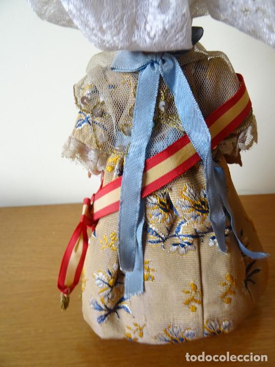 Muñeca española clasica: LINDA PIRULA VESTIDA DE VALENCIANA TIPO BOMBONERA CON ETIQUETA ORIGINAL - MUÑECAS ALBA - AÑOS 50 - Foto 8 - 205772442