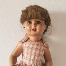 Muñeca española clasica: MUÑECA. COMPOSICIÓN, PELO NATURAL. OJOS DURMIENTES. ESPAÑA. AÑOS 40. Lote 205815182