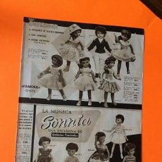 Muñeca española clasica: HOJA PUBLICIDAD MUÑECA CAYETANA, SONNIA, TERESIN, LUISITO. Lote 206130276