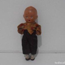 Muñeca española clasica: MUÑECO PORCELANA, ARCILLA 15 CM AÑOS 50. Lote 206156648