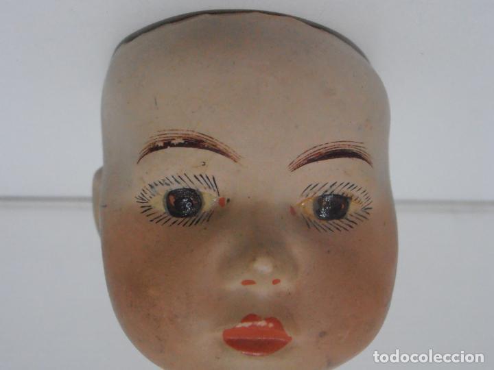 Muñeca española clasica: MUÑECA CABEZA PORCELANA MARCADA EN LA NUCA N 2 - Foto 2 - 206163628