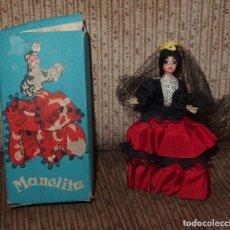 Muñeca española clasica: MUÑECA MANOLITA,CRECIONES ANTONIETA,CAJA OROIGINAL,FINALES DE LOS AÑOS 50. Lote 206305000