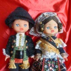 Muñeca española clasica: ANTIGUA PAREJA MUÑECA Y MUÑECO CHARROS DE SALAMANCA CON TODOS LOS COMPLEMENTOS TRAJE CHARRO-TOYSE-. Lote 206421671