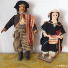 Muñeca española clasica: PAREJA DE MUÑECOS CAMPESINOS. Lote 207321416