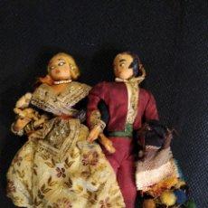 Muñeca española clasica: PAREJA DE MUÑECOS VALENCIANOS DE TELA. 21 CM ALTO.. Lote 209416795