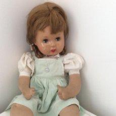 Muñeca española clasica: MUÑECA SEGURAMENTE DE FLORIDO, MILITINA CON ETIQUETA BAZAR LEON. Lote 209648810