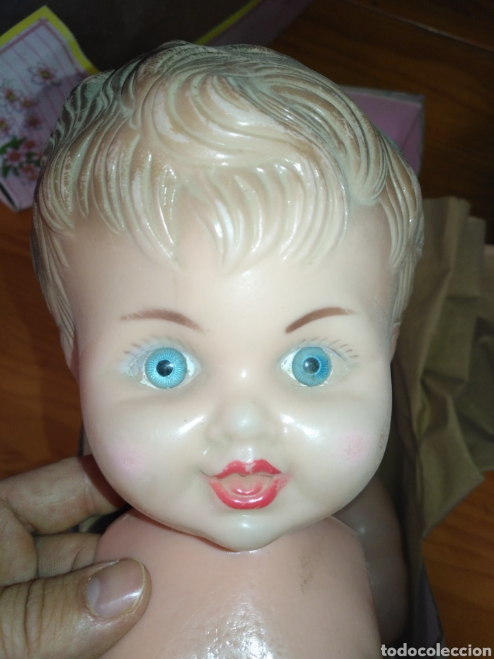 Muñeca española clasica: Antiguo Muñeco de plástico Numerado 37 antiguo bebe de plástico Núm 37 tamaño 48cm prototipo prueba - Foto 3 - 209852722