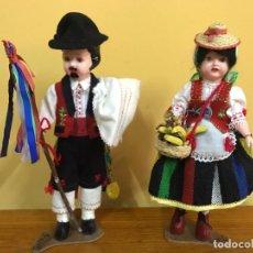 Muñeca española clasica: PAREJA MUÑECOS TENERIFE AÑOS 50. Lote 210150155