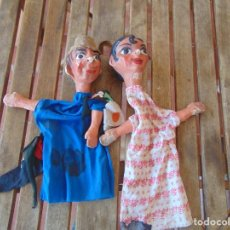 Muñeca española clasica: MARIONETAS CARTON PIEDRA ANTIGUAS, TITERES PAPEL MACHE, JUGUETE ANTIGUO, GITANA GITANO. Lote 210639082