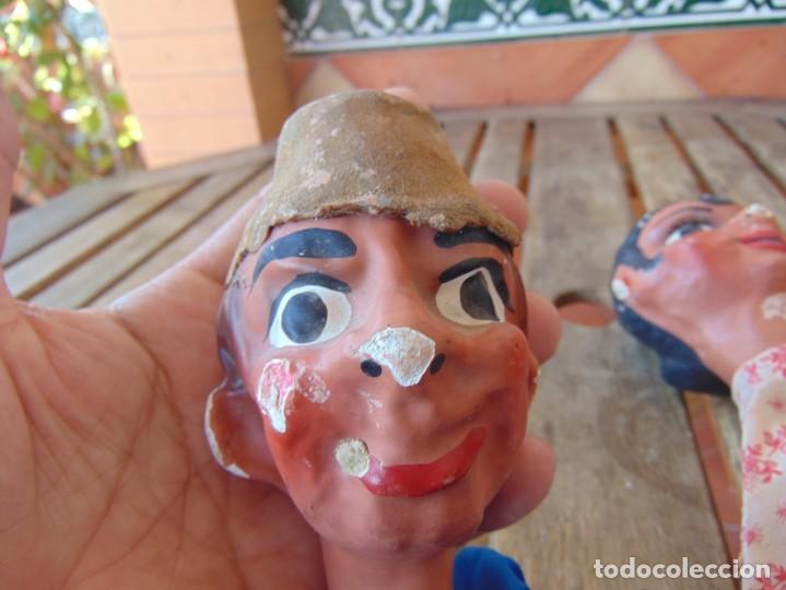 Muñeca española clasica: MARIONETAS CARTON PIEDRA ANTIGUAS, TITERES PAPEL MACHE, JUGUETE ANTIGUO, GITANA GITANO - Foto 10 - 210639082