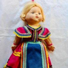 Muñeca española clasica: MUÑECAS POSIBLEMENTE CASA PAGÉS CON BOLSA -52 CM. Lote 211393804
