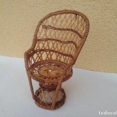 Muñeca española clasica: SILLA DE MIMBRE PARA MUÑECA. Lote 211955050