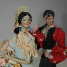 Muñeca española clasica: PAREJA DE FLAMENCOS DE COMPOSICIÓN Y PLOMO. Lote 212382006