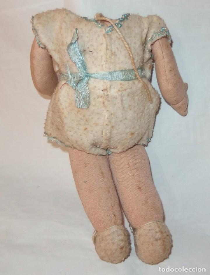 Muñeca española clasica: CUERPO DE MUÑECA DE TRAPO RELLENO,AÑOS 40 Ó 50 - Foto 2 - 212667658