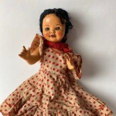 Muñeca española clasica: MUÑECA ONIL, SANTIAGO MOLINA, ALICANTE. VESTIDO DE ORIGEN. AÑOS 40.. Lote 213302710