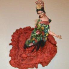 Muñeca española clasica: MARÍN - ANTIGUA MUÑECA - ANDALUZA - BAILAORA - 17 CMS - MANTÓN FLORES. Lote 213689226