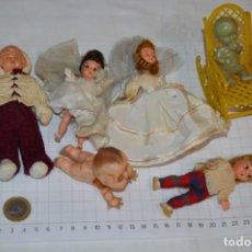 Muñeca española clasica: LOTE MUÑECAS / MUÑEQUITOS - DE CELULOIDE, PLÁSTICO O PASTA - ALGUNOS OJOS DURMIENTES ¡PRECIOSAS!. Lote 214467986