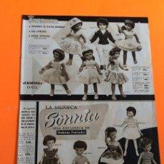 Muñeca española clasica: HOJA PUBLICIDAD MUÑECA CAYETANA, SONNIA, TERESIN, LUISITO. Lote 214816666