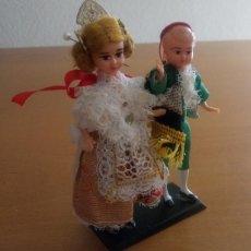 Muñeca española clasica: ESTUCHE CON PAREJA MUÑECA MUÑECO FOLKLORE TIPICO VALENCIA MURCIA - 12 X 9 CMS. Lote 215183088