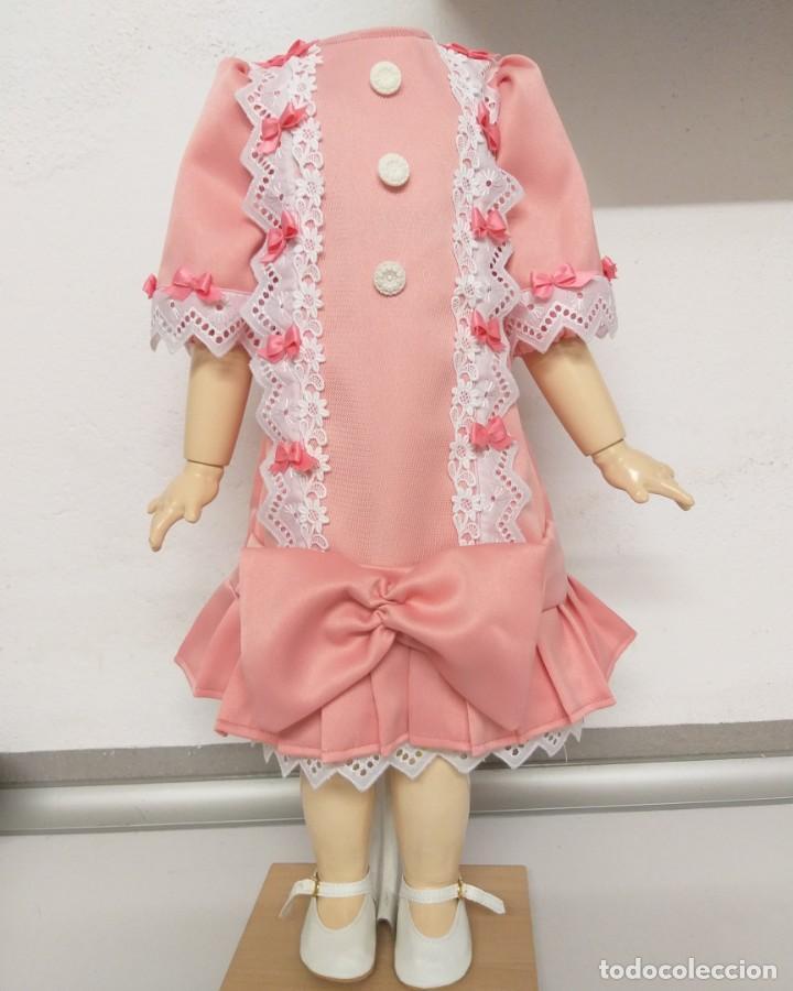 PRECIOSO VESTIDO ROSA PARA MUÑECA ANTIGUA (Juguetes - Reproducciones Vestidos y Accesorios Muñeca Española Clásica)