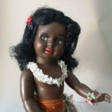 Muñeca española clasica: PRECIOSA CAYETANA DE CELULOIDE NEGRITA ,AÑOS 50. Lote 216549953