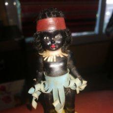 Muñeca española clasica: MUÑECO NEGRITO MUY ANTIGUO BUEN ESTADO 9 CM. Lote 217915471