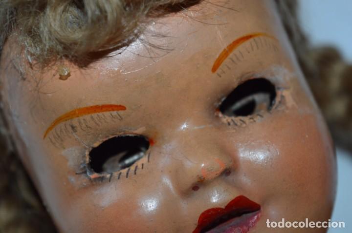 Muñeca española clasica: Antigua muñeca de CARTÓN PIEDRA / Sobre 37 Cm. de longitud - Para PIEZAS/RESTAURACIÓN - ¡Mira fotos! - Foto 4 - 218189660