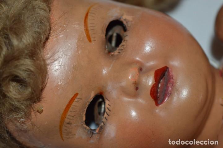 Muñeca española clasica: Antigua muñeca de CARTÓN PIEDRA / Sobre 37 Cm. de longitud - Para PIEZAS/RESTAURACIÓN - ¡Mira fotos! - Foto 5 - 218189660