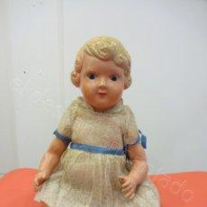 Muñeca española clasica: PRECIOSA MUÑECA DE CELULOIDE MARCADA EN LA NUCA JC.SA. MIDE 49 CTMS. Lote 218236931