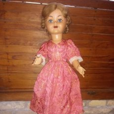 Muñeca española clasica: ANTIGUA MUÑECA DE CARTON PIEDRA Y CABEZA CELULOIDE 60 CM. Lote 218374118