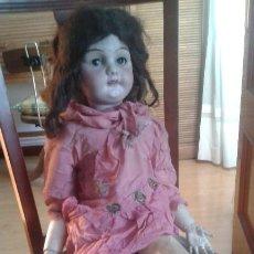 Muñeca española clasica: MUÑECA DE PORCELANA SIGLO XIX GRANDE. Lote 218419265
