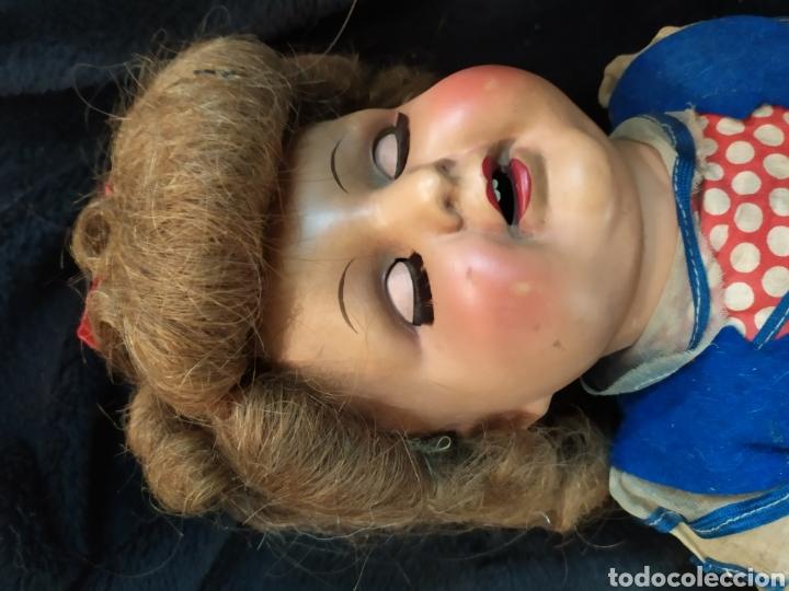 Muñeca española clasica: Preciosa muñeca composición y cartón piedra. Con inscripción en espalda. - Foto 6 - 218628800