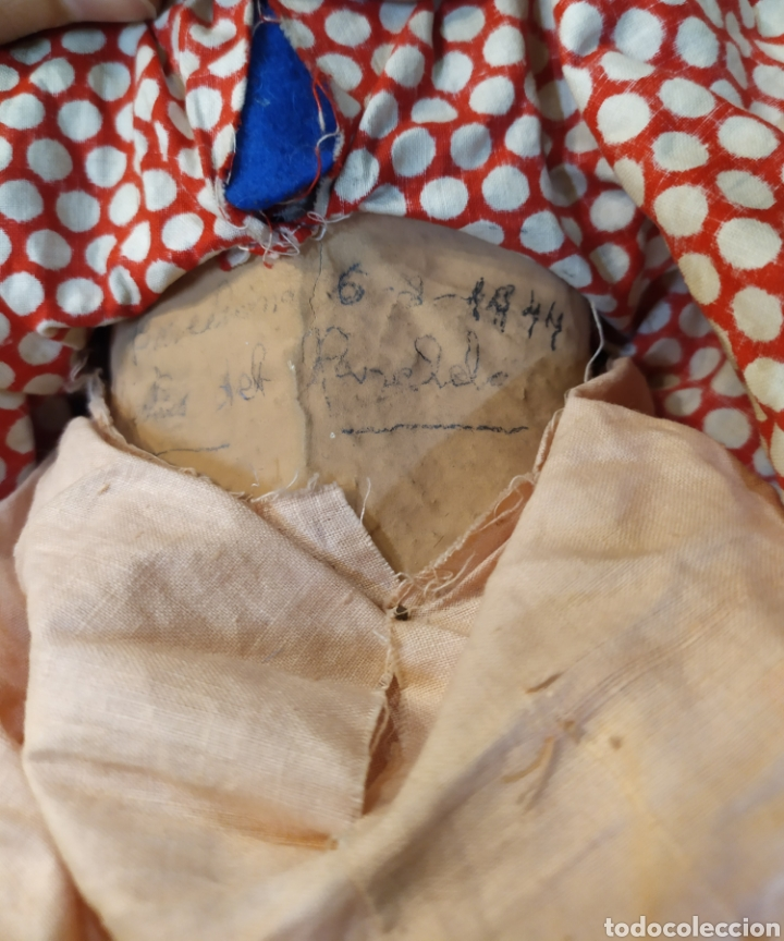 Muñeca española clasica: Preciosa muñeca composición y cartón piedra. Con inscripción en espalda. - Foto 13 - 218628800