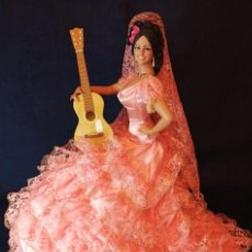 Muñeca española clasica: MUÑECA GITANA DE MARIN DE 68 CM,COMPLETAMENTE NUEVA.. Lote 219014683
