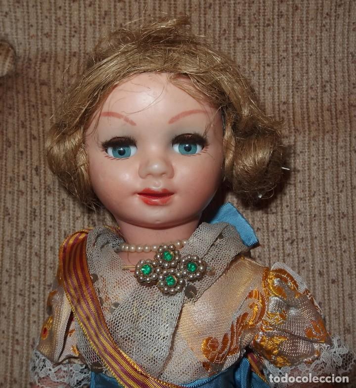 Muñeca española clasica: 2º MODELO DE CELIA DE FAMOSA,VESTIDA DE FALLERA VALENCIANA,FINALES AÑOS 50 - Foto 2 - 219834330