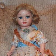 Muñeca española clasica: 2º MODELO DE CELIA DE FAMOSA,VESTIDA DE FALLERA VALENCIANA,FINALES AÑOS 50. Lote 219834330