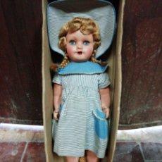 Muñeca española clasica: MUÑECA ESPAÑOLA CARTÓN-PIEDRA CAJA ORIGINAL IMPECABLE. Lote 220400486