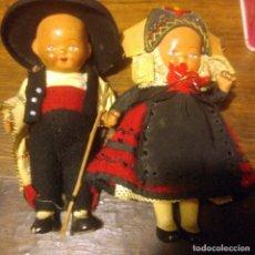 Muñeca española clasica: PRECIOSA PAREJA MUÑECOS SEGOVIANOS. PORCELANA. SEGOVIA, TRAJE REGIONAL. PPIOS. S.XX. Lote 221837938