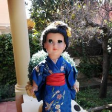 Muñeca española clasica: MUÑECA LINDA GEISHA DE INDUSTRIAS ALBA CON ETIQUETA. Lote 222317876