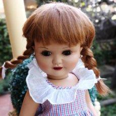 Muñeca española clasica: MUÑECA DE CARTÓN PIEDRA VIVIANA IND LEB MARCADA AÑOS 50 GUAPISIMA!. Lote 222438406