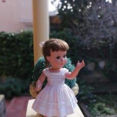 Muñeca española clasica: MUÑECA LINDA CARLA DE MUÑECAS ALBA 1950 TODA DE ORIGEN. Lote 222442086