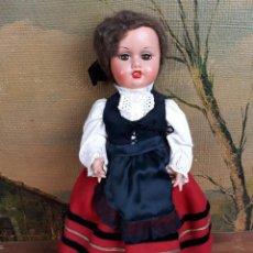 Muñeca española clasica: MUÑECA EN CELULOIDE VESTIDA CON TRAJE REGIONAL. Lote 222457812