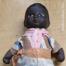Muñeca española clasica: MUÑECO NEGRITO TERRACOTA AÑOS 40 15 CM. ALTURA. Lote 222461200