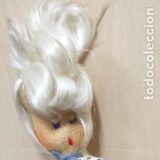 Muñeca española clasica: MUÑECA TRAPO CON ALAMBRE AÑOS 40 28 CM. ALTURA. Lote 222461857