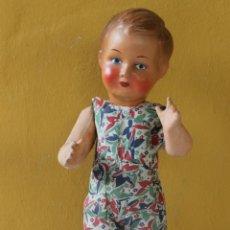 Muñeca española clasica: ANTIGUO MUÑECO CARTON PIEDRA AÑOS 40 A IDENTIFICAR. Lote 222482361