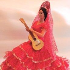 Muñeca española clasica: MUÑECA GITANA DE MARIN ROJA TAMAÑO GIGANTE DE 68 CM. Lote 222876583